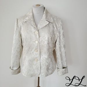 Chadwick's Jacket Blazer Cream White Gold Wedding